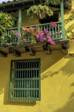 Charming Spanish Colonial Architecture, Old City, Cartagena, Colombia by Jerry Ginsberg