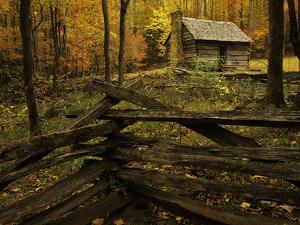 Cole Cabin, Great Smoky Mountains National Park, Tennessee, USA by Jerry Ginsberg