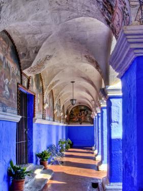 Graceful Archways of Monasterio Santa Catalina in the White City of Arequipa, Peru by Jerry Ginsberg