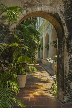 Historic Santuario and Iglesia de San Pedro Claver, Cartagena, Colombia. by Jerry Ginsberg