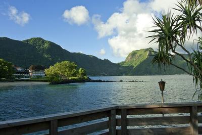 Idyllic bay in Pago Pago, Tutuila, American Samoa.