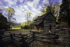 John Oliver Cabin, Great Smoky Mountains NP, Tennessee, USA by Jerry Ginsberg