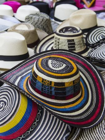Local crafts for sale in the old walled city of historic Cartagena, Colombia.