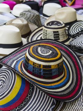 Local crafts for sale in the old walled city of historic Cartagena, Colombia. by Jerry Ginsberg