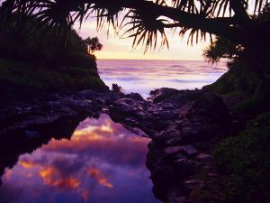 Lovely Oheo Gulch meets the Pacific in Haleakala National Park, Maui, Hawaii by Jerry Ginsberg