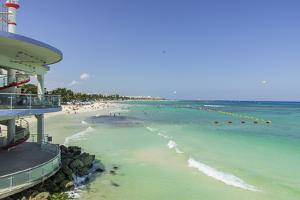 Mexico, Yucatan port, Lovely Playa del Carmen basks in the warm tropical sun. by Jerry Ginsberg