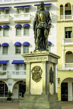 Pedro de Heredia, Plaza de Los Coches, Cartagena, Colombia by Jerry Ginsberg