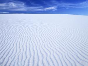 Sparkling White Rippled Gypsum Dunes, White Sands Nm, New Mexico, USA by Jerry Ginsberg