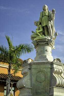 Statue of Christopher Columbus, Old City, Cartagena, Colombia by Jerry Ginsberg