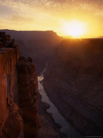 View on the Colorado River, Toroweep Point, North Rim, Grand Canyon National Park, Arizona, USA by Jerry Ginsberg