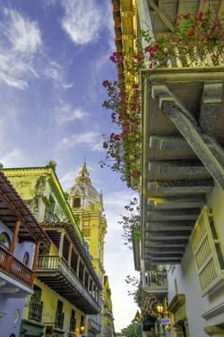 Wonderful Spanish Colonial Architecture, Old City, Cartagena, Colombia by Jerry Ginsberg