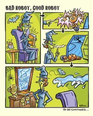 Bad Good Robot Strip 4 by Jerry Gonzalez