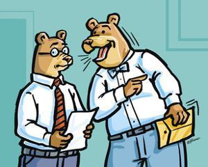 Office Bears by Jerry Gonzalez