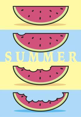 Summer Flag - Watermelon Summer 1 by Jerry Gonzalez