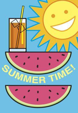 Summer Flag - Watermelon Summer 2 by Jerry Gonzalez