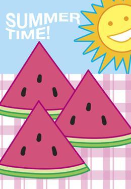 Summer Flag - Watermelon Summer 3 by Jerry Gonzalez