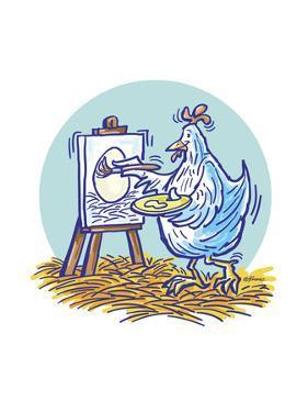 The Chicken Artist by Jerry Gonzalez