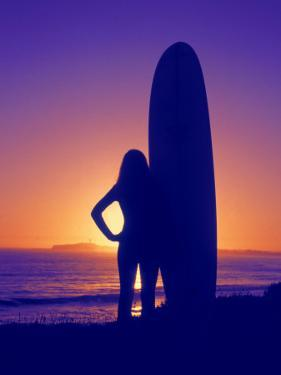 Surfer Girl, Silhouette by Jerry Koontz