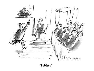 """""""I object!"""" - Cartoon"""
