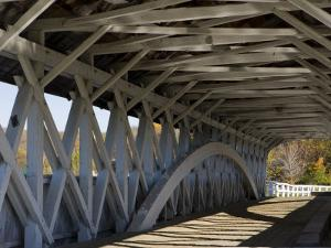 Covered Bridge over the Upper Ammonoosuc River, Groveton, New Hampshire, USA by Jerry & Marcy Monkman