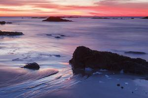 Dawn over the Atlantic Ocean in Rye, New Hampshire. Wallis Sands SP by Jerry & Marcy Monkman