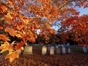 Fall Morning in a Portsmouth Cemetary, New Hampshire, USA by Jerry & Marcy Monkman