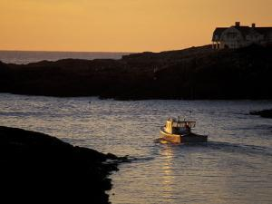 Fishing Boat in the Cove at Sunrise, Maine, USA by Jerry & Marcy Monkman