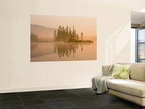 Misty Dawn on East Inlet, Pittsburg, New Hampshire, USA by Jerry & Marcy Monkman
