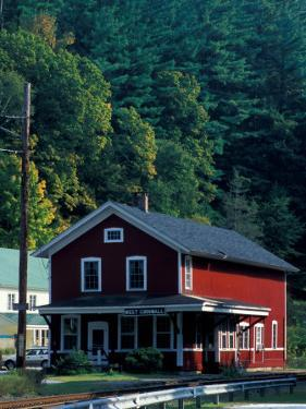 Railroad Depot in West Cornwall, Litchfield Hills, Connecticut, USA by Jerry & Marcy Monkman