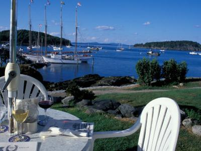 Restaurant at the Bar Harbor Inn and View of the Porcupine Islands, Maine, USA by Jerry & Marcy Monkman