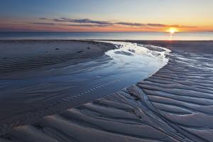 Sand Patterns at Sunset, Bound Brook Island, Wellfleet, Massachusetts by Jerry & Marcy Monkman