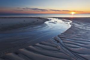 Sand Patterns at Sunset, Bound Brook Island, Wellfleet, Massachusetts by Jerry & Marcy Monkman