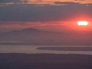 Sunset over Blue Hill, Acadia National Park, Maine, USA by Jerry & Marcy Monkman