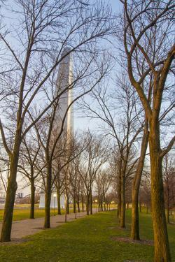 The Gateway Arch in St. Louis, Missouri. Jefferson National Memorial by Jerry & Marcy Monkman