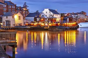 The Moran Tugboats on the Portsmouth, New Hampshire Waterfront by Jerry & Marcy Monkman