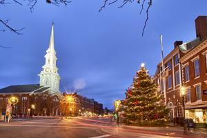The North Church and Market Square, Portsmouth, New Hampshire by Jerry & Marcy Monkman