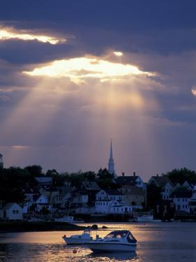 The North Church Rises Above Portsmouth, Piscataqua River, New Hampshire, USA by Jerry & Marcy Monkman