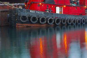 Tugboat Alongside the Barge, Cape Cod, Portsmouth, New Hampshire by Jerry & Marcy Monkman