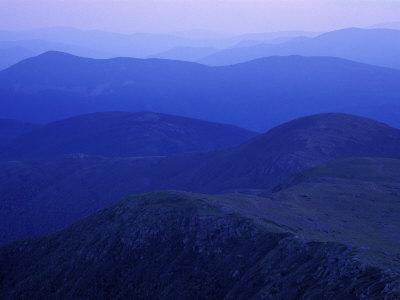 View From Mt. Monroe on Crawford Path, White Mountains, New Hampshire, USA