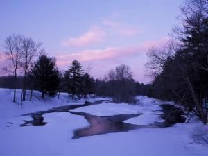 Winter from Bridge on Lee-Hook Road, Wild and Scenic River, New Hampshire, USA by Jerry & Marcy Monkman
