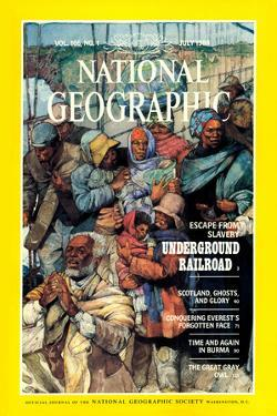 Cover of the July, 1984 National Geographic Magazine by Jerry Pinkney