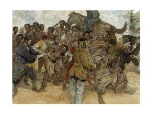 Owusu Mensa, a Denkyira Warrior, Fights Being Sold into Slavery by Jerry Pinkney