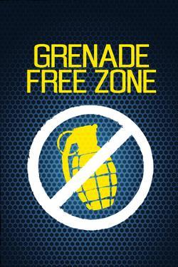 Jersey Shore Grenade Free Zone Blue Mesh TV Poster Print