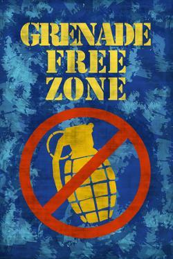 Jersey Shore Grenade Free Zone Blue TV Poster Print