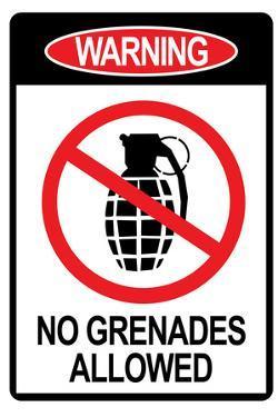 Jersey Shore No Grenades Allowed Sign TV Poster Print