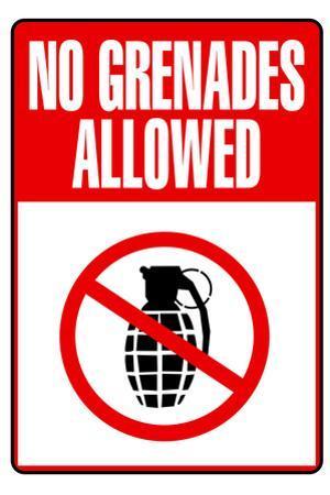 Jersey Shore No Grenades Allowed TV Plastic Sign