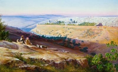 Jerusalem from the Mount of Olives by Edward Lear
