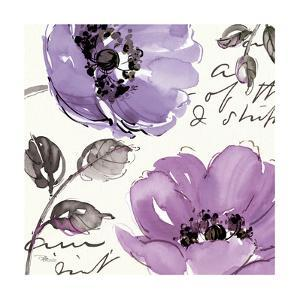 Floral Waltz Plum II by Jess Aiken