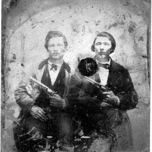 Jesse and Frank James, C.1866-76