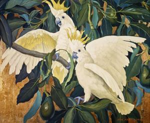 Sulphur Crested Cockattoos by Jesse Arms Botke